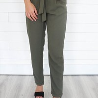 LIKE NOBODY'S BUSINESS PANTS - OLIVE