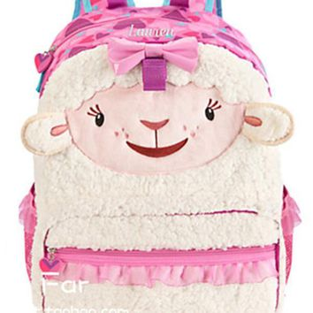 Doc McStuffins Lambie Lamb Plush Bag Schoolbag Primary School Backpacks Children School Bags Rucksacks for Girls Kids