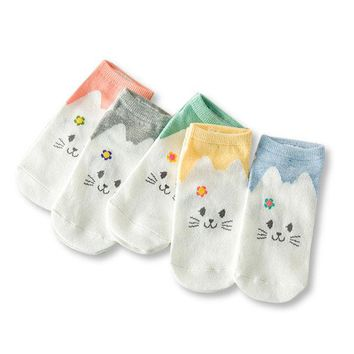 Women Cotton Cartoon Socks Candy Bar Antenna Catwoman Invisible Socks