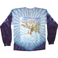 Grateful Dead Men's  Powderman Tie Dye  Long Sleeve Multi