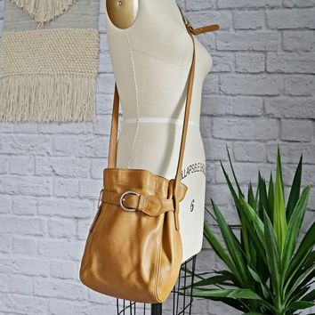 Vintage 1990s 'Coach' + Crossbody Bucket Bag