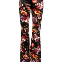 Velvet Bloom Flared Bell Bottom Pants