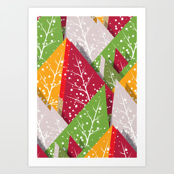 Oh Christmas Tree... Art Print by MadTee