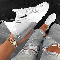 Nike Air Max 270 New Fashion Trending Women Men Personality Air Cushion Running Sport Shoes