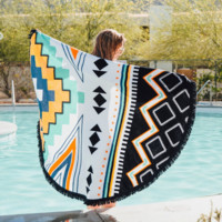 Diamond Geometry Ethnic Towel Beach Printed Sunbath Towel Beach Yoga Mat
