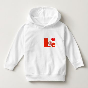 Love Red Heart Lips Kiss Toddler Hoodie