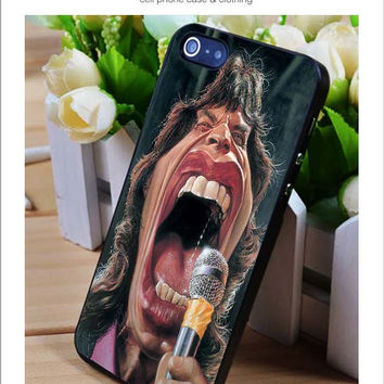 MIck Jagger Funy iPhone for 4 5 5c 6 Plus Case, Samsung Galaxy for S3 S4 S5 Note 3 4 Case, iPod for 4 5 Case, HtC One for M7 M8 and Nexus Case
