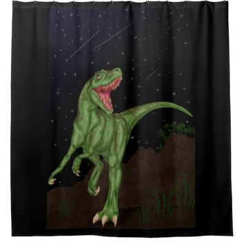 Dinosaur - Prehistoric Night Shower Curtain