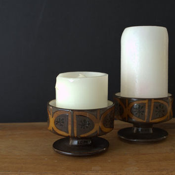 Mid Century Modern Candle Holder, Modern Pedestal Candle Holder, Ceramic Candle Holders