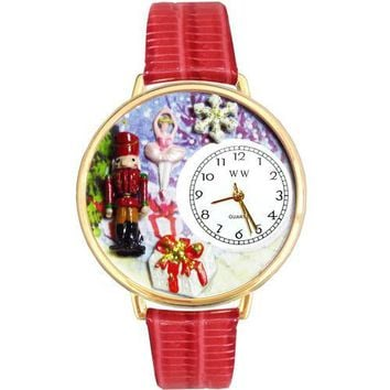 Christmas Nutcracker Watch in Gold (Large)