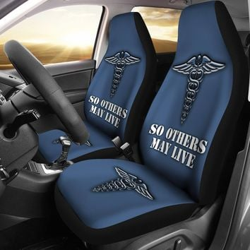 Nurse Custom Printed Car Seat Covers (set of 2)