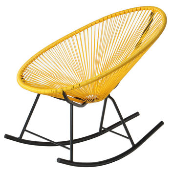 PoliVaz Mayan Hammock Acapulco Rocking Chair, Yellow