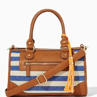 Sail Away Striped Satchel | Fashion Handbags – Nautical Chic | charming charlie