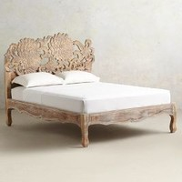 Handcarved Lotus Bed by Anthropologie Neutral