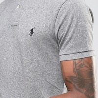Polo Ralph Lauren Slim Fit Polo Shirt With Logo in Grey