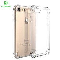 FLOVEME For iPhone 7 Plus Case Luxury Shockproof Armor Cases For iPhone 7 7 Plus Gasbag Crystal Clear Phone Accessories Cover