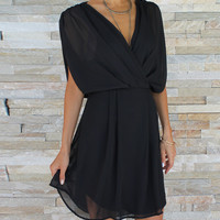 Black Sheer Flowy Dress