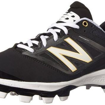 DCCK1IN new balance pl4040v3 tpu molded cleats low cut black white