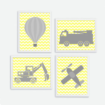 Baby Boy Print, Baby Nursery Decor, Playroom Kids Wall Art, Instant Download, Air Ballon, Grabber. Airplane, Car mechanic print 8 x10 poster