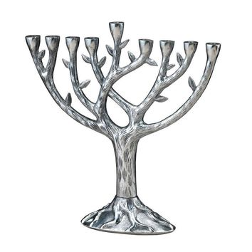 Tree of Life Style Chanukah Menorah Hanukkah
