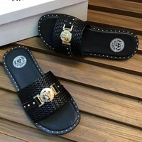 Versace Casual Fashion Man Sandal Slipper Shoes