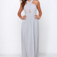 Chimerical Creation Grey Maxi Dress