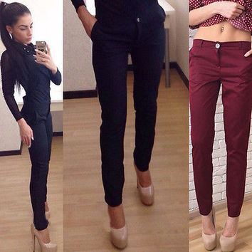 2016 New Sexy Women Skinny Pants High Waist Stretch Jeggings Slim Pencil Trousers