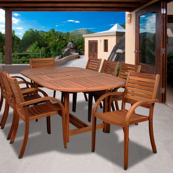 Arizona 9 pc Eucalyptus Oval Dining Set