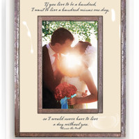 If You Live To Be A Hundred Copper & Glass Photo Frame