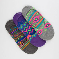 FULL TILT 3 Pack Ethnic Print Womens No Show Socks 213428957 | Socks | Tillys.com