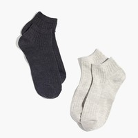 Two-Pack Ribbed Heather Ankle Socks : | Madewell