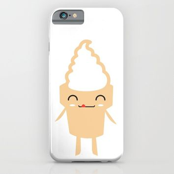 CUTE YUMMY SOFT SERVE ICE CREAM iPhone & iPod Case by deificus Art