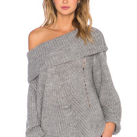 Somedays Lovin Comfort Inn Sweater in Grey Marle