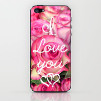 I Love you iPhone & iPod Skin by RichCaspian