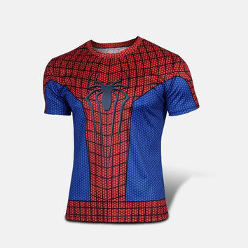 3D T Shirt Spiderman Summer Cool Tees Tops Brand Animation