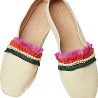 Multicolor Fringe Sand Tan Espadrilles by Scotch & Soda