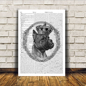 Boxer print Dog poster Animal art Modern decor RTA80