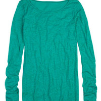 Laura Solid Burnout Thumbhole Long-Sleeve