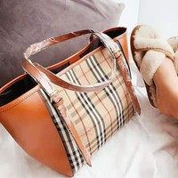 Burberry fashion checked color shoulder bag hot seller for women's casual shoulder bag