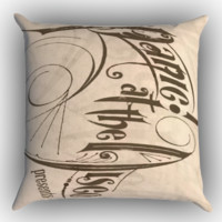 Panic at the disco logo Zippered Pillows  Covers 16x16, 18x18, 20x20 Inches