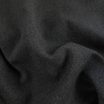 Charcoal & Black Ribbed Upholstery Fabric  2 yards