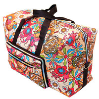 New Folding Travel Bag Large Capacity Waterproof Printing Bags Portable Women's Tote Bag Travel Bags Women