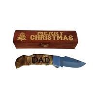 Dads Stocking Stuffer| Engraved Knife & Gift Box| Men's Merry Christmas Personalized Present, Dad's Christmas Gift Knife