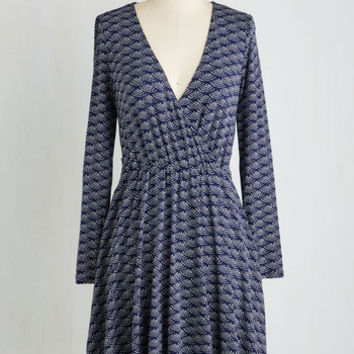 Let 'Em Know What's Scallop A-Line Dress | Mod Retro Vintage Dresses | ModCloth.com