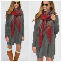Ellington Dark Grey Piko Dress