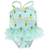 Baby Girls' Pineapple Tutu 1-Piece Swimsuit Blue - Circo™