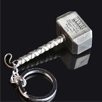 New Marvel The Avengers Thor Thor's Hammer Metal Keyring Keychain Silver    LS