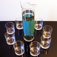Barware Set Cocktail Pitcher by Fred Press Rubel by GSArcheologist