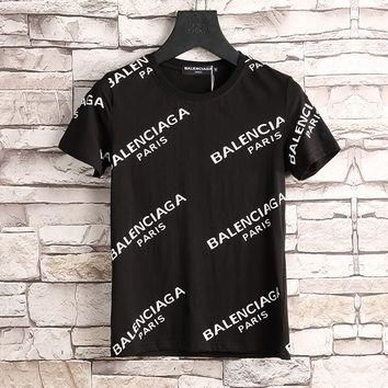 Balenciaga Women or Men Fashion Casual Letter Print Shirt Top Tee