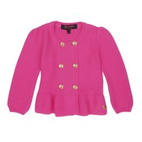Dragon Fruit Baby Ruffle Peplum Cardigan by Juicy Couture,